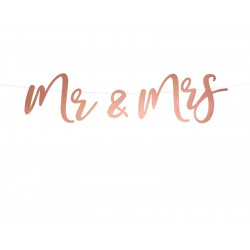 Banner Mr and Mrs rose gold 68cm