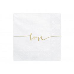 20 serviettes Love