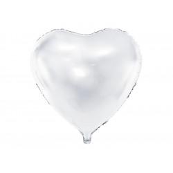 Ballon coeur blanc 45cm