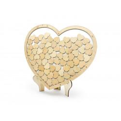 Livre d'Or coeur bois