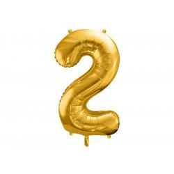 Ballon chiffre 2 or 86cm