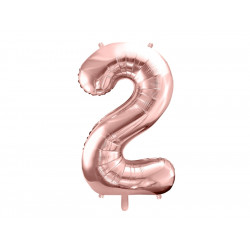Ballon chiffre 2 rose gold 86cm