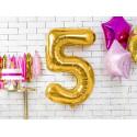 Ballon 5 gold 86cm