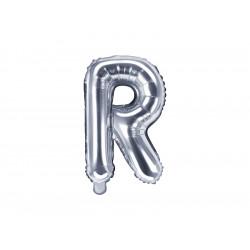 Ballon lettre R argent 35cm