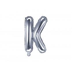 Ballon lettre K argent 35cm