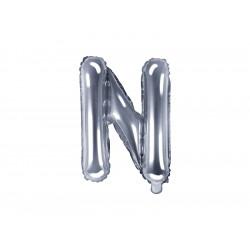 Ballon lettre N argent 35cm