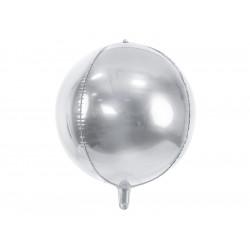 Ballon rond argent 40cm