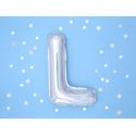 Ballon L argent 35cm