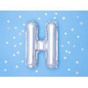 Ballon H argent 35cm