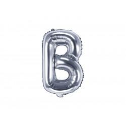 Ballon lettre B argent 35cm