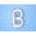 Ballon B argent 35cm