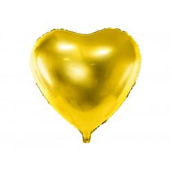 Ballon coeur Or 61cm