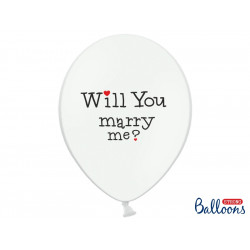 "Ballons ""Will you marry me"" (x6)"