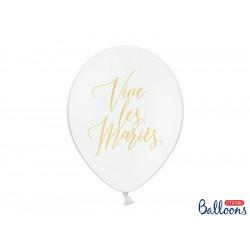 Ballons Vive les mariés Or (x5)
