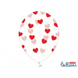 Ballons cristal coeur rouge (x6)