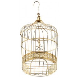 Tirelire cage Or