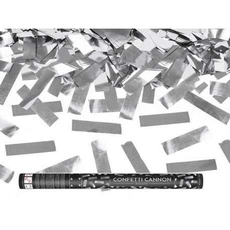 Canon confettis argent 60cm