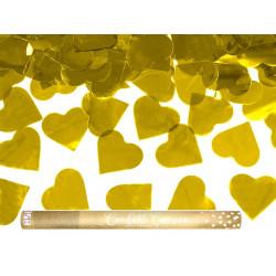 Canon confettis coeur Or