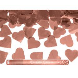 Canon confettis coeur rose gold