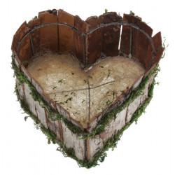 Panier coeur naturel