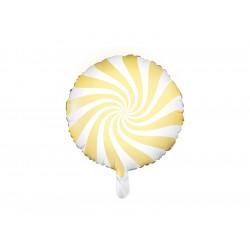 Ballon candy jaune 45cm