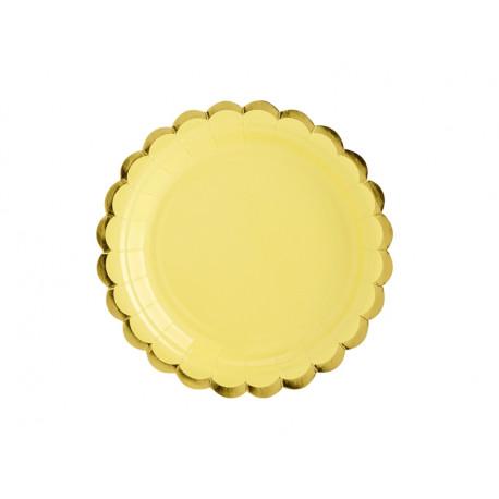 Assiettes bord Or jaune 18cm (x6)