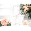 Gobelets blanc et pois rose gold