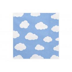 Serviettes nuages
