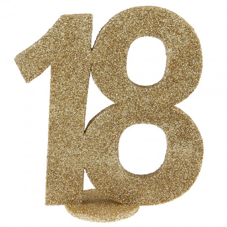 Chiffre 18 or
