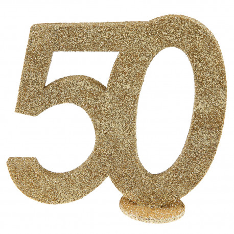 Chiffre 50 or