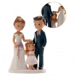 Figurine de mariage avec petite fille