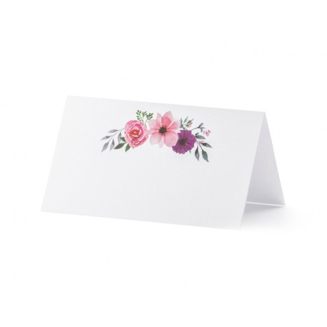 Carte de table floral (x25)