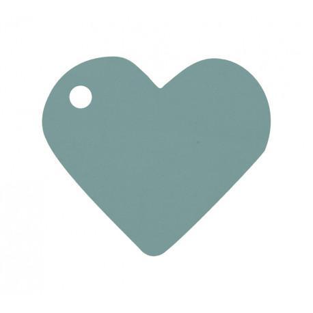 Etiquettes coeur argent (x10)