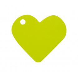 Etiquettes coeur vert (x10)