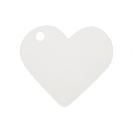 Etiquettes coeur blanc (x10)