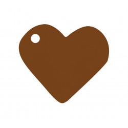 Etiquettes coeur chocolat (x10)