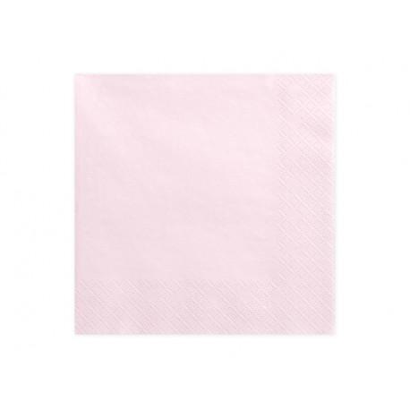 Serviette rose poudre 33x33cm (x20)