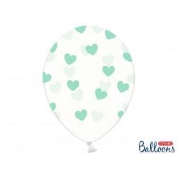 Ballons crystal coeur bleu (x6)