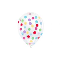 Ballon confettis multi (x6)