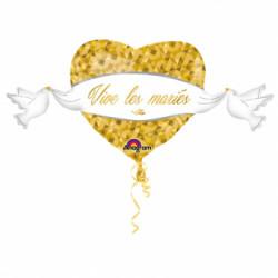 """Ballon """"Vive les mariés"""" 104cm"""