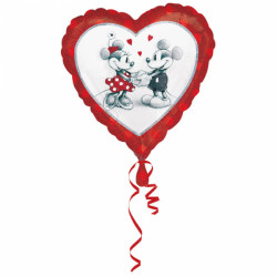Ballon love Mickey et Minnie