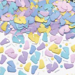 Confettis petit pied de bébé