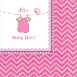 "Serviettes  ""It's a girl""  (x16)"