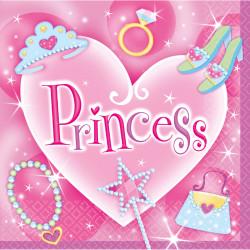 Serviettes Princesse (x16)