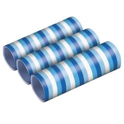Serpentins bleu et blanc (x3)