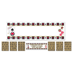 Bannière a personn.Poker 165,10x50,8cm