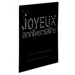 Marque place anniversaire noir x6