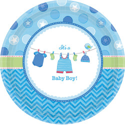 "Assiettes ""It's a boy""  (x8)"