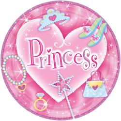 Assiettes Princesse (x8)