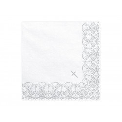 Serviettes Communion argent (x20)